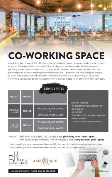 co-working space โรงแรม เดอะ คอนทิเน้นท์
