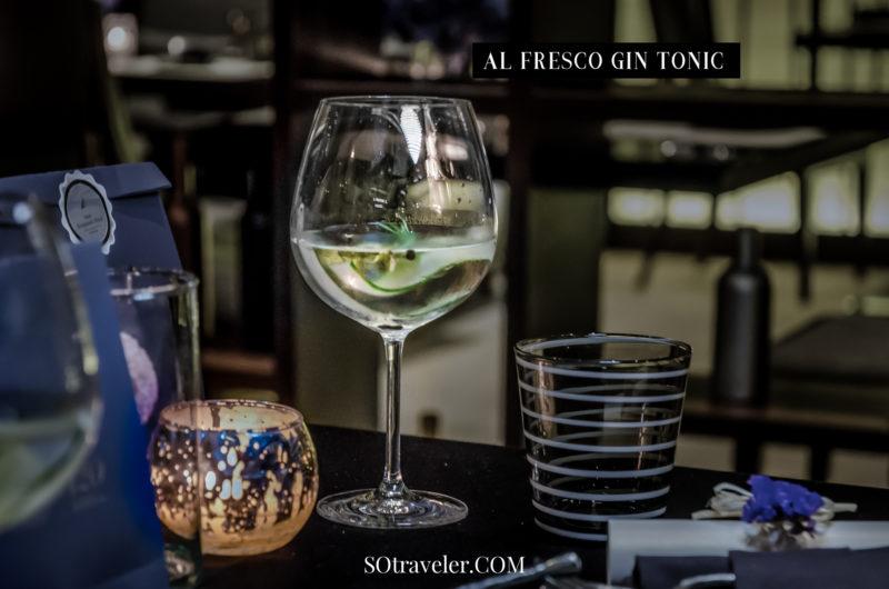 เครื่องดื่ม : AL FRESCO GIN TONIC