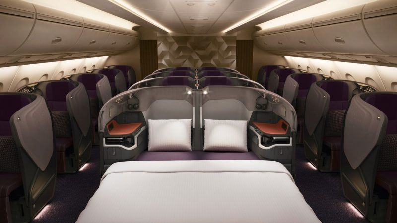 Double Bed on Seats in Middle Row