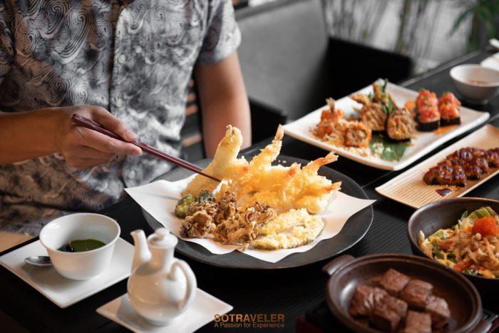บุฟเฟ่ต์อาหารญี่ปุ่น ห้องอาหารสึ (Tsu) โรงแรม JW Marriott Hotel Bangkok