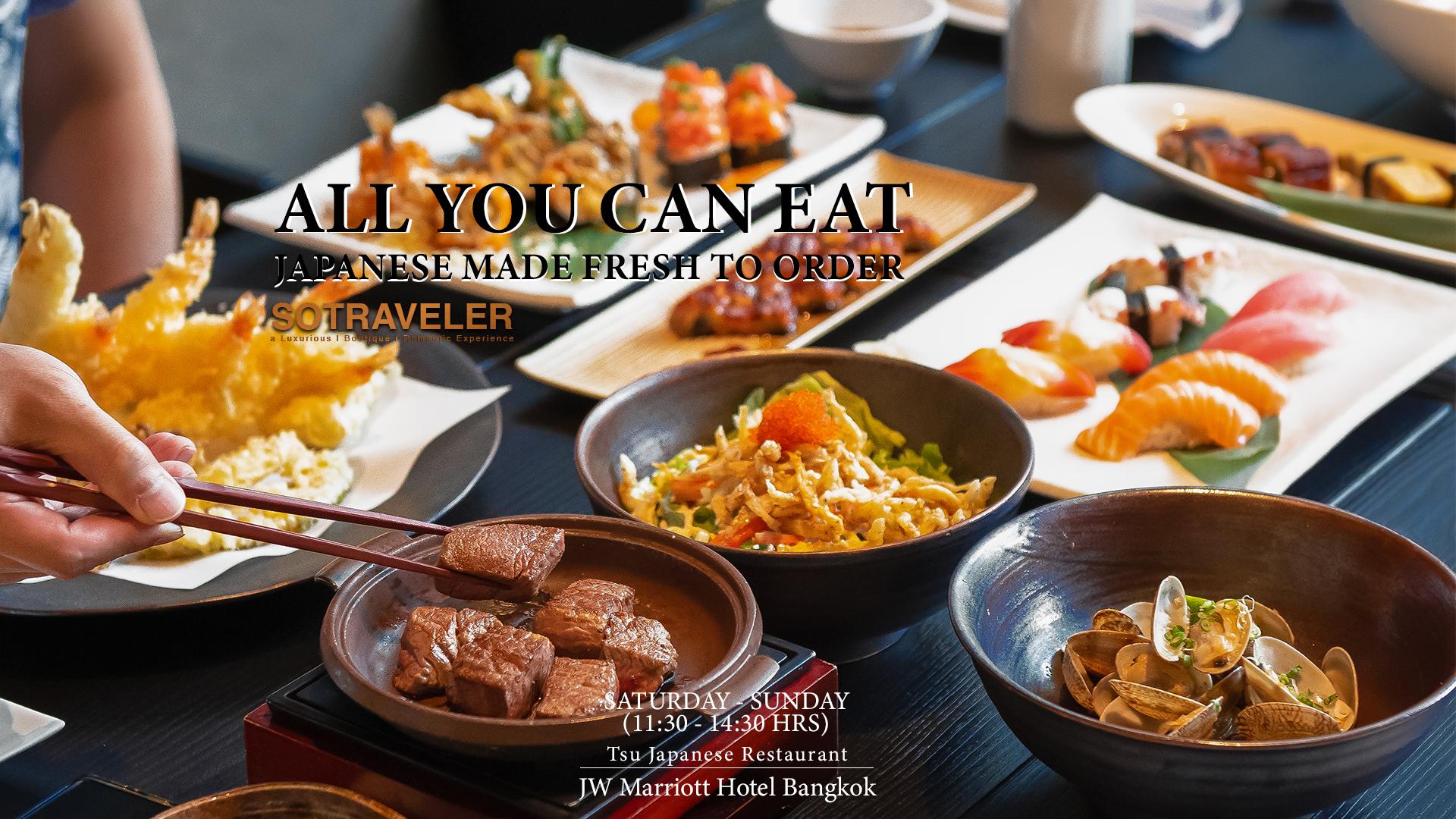 Tsu Japanese Cuisine Buffet JW Marriott Hotel Bangkok