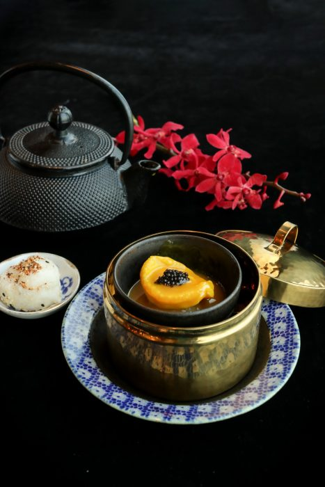 Abalone with Golden Broth and Sesame Ball