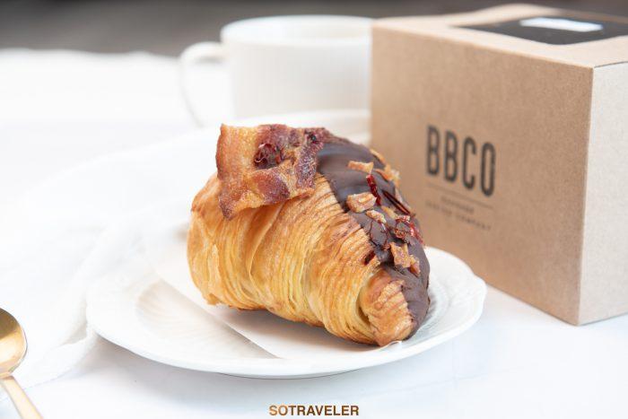 Chili Chocolate cancie bacon Croissant (ราคา 140 บาทสุทธิ)