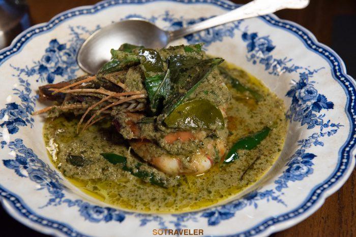 แกงเขียวหวานกุ้ง Aksorn Bangkok Chef David Thompson
