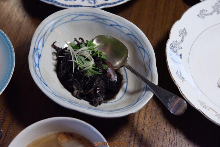 ปลาหมึกต้มเค็ม Aksorn Bangkok Chef David Thompson