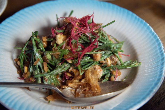 ยำยอดกระถิน Aksorn Bangkok Chef David Thompson