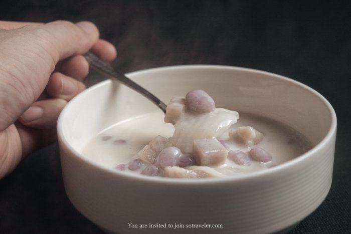 บัวลอยเผือกมะพร้าวอ่อน Montien Surawong Delivery Menu
