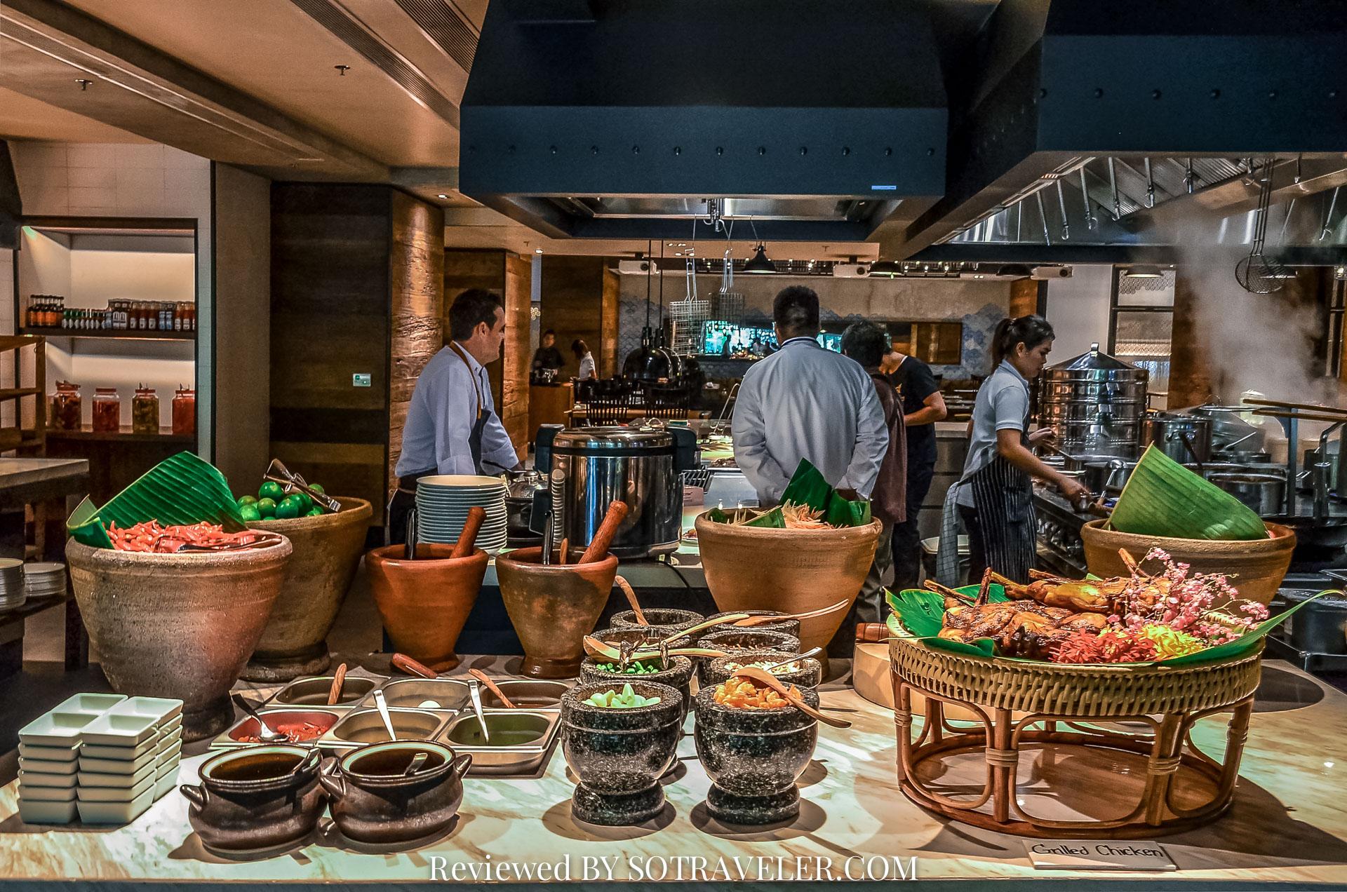 โกจิ คิทเช่น แอนด์บาร์ (Goji Kitchen & Bar) ส้มตำ